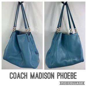 Coach shoulder purse Madison Phoebe pebble leather